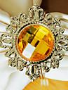 Diamant de nunta șervețele Ring Set de 12, Metal Cristal Dia 4,5 cm