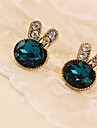 Cercei Stud Piatră Preţioasă Cristal Ștras imitație de diamant Aliaj Verde Bijuterii Pentru Zilnic Casual 1 pereche