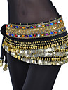 Belly Dance Belt Women\'s Training Polyester Beading / Coins / Crystals/RhinestonesBlack / Blue / Fuchsia / Pink / Purple / Red / Royal