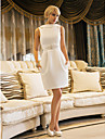 Lanting Bride® Sheath / Column Petite / Plus Sizes Wedding Dress - Chic & Modern / ReceptionVintage Inspired / Open Back / Little White