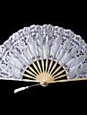 White Crown Design Lace Hand Fan