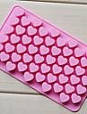 kärlek hjärtat form choklad bricka, silikon 55 hål (färg randoms) cm-87