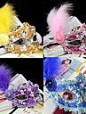 Mascara / Baile de Mascaras Cosplay Festival/Celebracion Traje de Halloween Purpura / Rosado / Amarillo / Azul Encaje / Un Color Mascara
