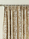 Jacquard Fancy Paisely Energy Saving Curtain (Two Panels)