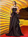 Formal Evening / Military Ball Dress - Vintage Inspired Plus Size / Petite A-line Sweetheart Sweep / Brush Train Satin with