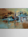 Hand Painted Oil Painting Abstract Farmland with Stretched Frame