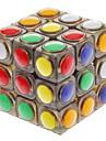 Slät Hastighet Cube 3*3*3 Magiska kuber Svart Blekna Plastic