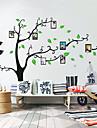 Botanisk Wall Stickers Väggstickers Flygplan Fotostickers,Self-adhesive Plastic Material Tvättbar / Kan tas bort Hem-dekoration