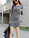 Women\'s Work / Bodycon Dress Above Knee Cotton