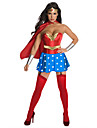 Costumes de Cosplay / Costume de Soiree Superheros Fete / Celebration Deguisement Halloween Rouge / Bleu Mosaique Robe / Casque / Cape