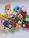 Animals Wooden Fridge Magnet - Set of 12 (Random Design)