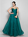Formal Evening / Military Ball Dress - Plus Size / Petite A-line Bateau Floor-length Chiffon