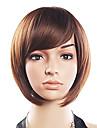 20% de cheveux humains 80% synthetique resistant a la chaleur fibre Side cheveux Bang perruque courte