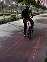 Eclairage de Velo / bicyclette Lampe Arriere de Velo LED Laser Cyclisme Etanche Tete crenelee Avertissement Lumens Batterie