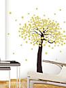 1st färgstarka avtagbar gul blomma träd vägg klistermärke