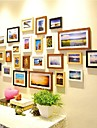 Four Color Mixed Photo Frame Collection Set of 25