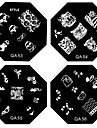 1PCS Nail Art stämpel Stämpling Mall Plate QA-serien NO.9-56 (Blandade Mönster)