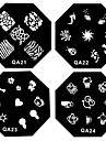 1PCS Nail Art Stamp Stamping Image Template Plate QA Series NO.21-52(Assorted Pattern)
