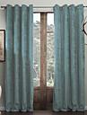 twopages® (två paneler) modern minimalistisk cyan fast polyester energibesparing gardin