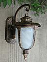 Buiten wandlamp, 1 Light, Classic Aluminium Glas Schilderen