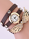 Koshi 2014 Kvinnors Angel Wing 3 Runda Diamonade Watch (Dark Brown)