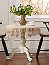 Beige 100% Coton Rond Nappes de table