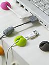 clip de fijacion del alambre de escritorio (color al azar)