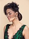 Hochzeitsschleier Einschichtig Gesichts Schleier Netzschleier Tuell Weiss SchwarzA-linie,Ball Kleid, Prinzessin,Klassisches Kleid,