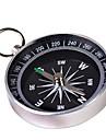 Compass metal portable avec porte-cles (Large) - Argent