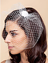Wedding Veil One-tier Blusher Veils / Birdcage Veils Tulle White / Black