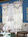 (Two Panels) Neoclassical Minimalist Floral Energy Saving Curtain