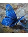 Peint a la main peinture a papillon avec cadre etire pret a accrocher