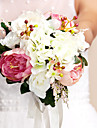 "Wedding Flowers Round Roses Bouquets Wedding As Picture Silk Multi-color 10.24""(Approx.26cm)"