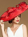 Fashional פשתן נשים חתונה / פרידה / ירח דבש כובע עם פרחים (צבעים נוספים)
