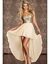 Women\'s Strapless Aysmmetrical Dress