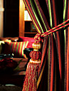 European Two Panels Stripe Green  Red  Multi-color  Chocolate Bedroom Polyester Panel Curtains Drapes