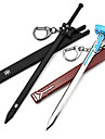 "Sword Art Online Black Sword ""Elucidator"" / ""Flash"" Cosplay Keychain (Black:Kirito, Brown:Asuna)"