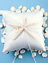 praia starfish tematico projeto branco de cetim anel travesseiro