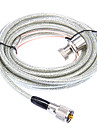 Huahong RC-5m UHF-kabel för Walkie Talkie - Transparent + silver (5M-Length)