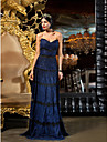 Homecoming TS Couture Formal Evening / Prom Dress - Royal Blue Plus Sizes Sheath/Column Sweetheart Floor-length Lace