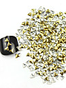 300st 3D Golden Triangle Alloy Nail Art Golden & Silver Dekorationer