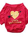 Chien Tee-shirt Rouge Rose Vetements pour Chien Ete Coeur