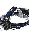 Belysning Pannlampor LED 1200 Lumen 3 Läge Cree XM-L T6 18650 Justerbar fokus / Vattentät / Laddningsbar / självförsvar Multifunktion