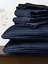 huani® täcke set, 3 st pläd marinblå polyester