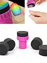 Outils 1PCS manucure Sponge Nail Art Stamper avec 4pcs eponge ongles pour Gradient couleurs nail art