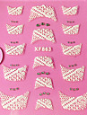 3D Rhinestone French Lace Nail Art Stickers XF-seriens NO.863