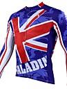 PaladinSport Män s våren och sommaren och hösten Style 100% Polyester Långärmat Cycling Jersey