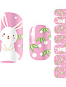 28PCS Cartoon White Rabbit Design Nail Art Stickers