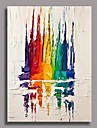 Peint a la main Abstrait Verticale Un Panneau Toile Peinture a l\'huile Hang-peint For Decoration d\'interieur