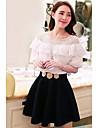 TS Vintage collar de la colmena delgada Cut Off vestido del hombro